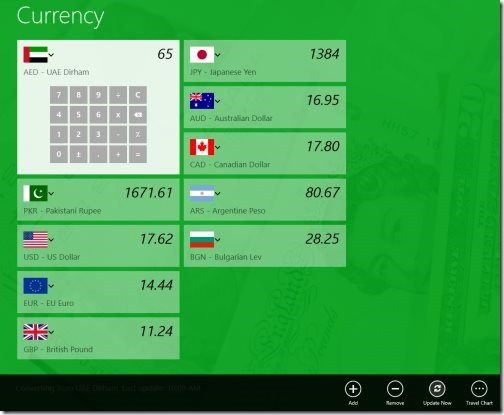 Windows 8 currency converter apps