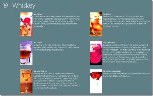 Windows 8  drinks recipes