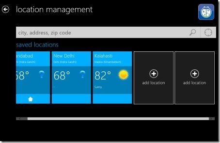 Windows 8 weather app