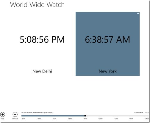 world clock Windows 8 app