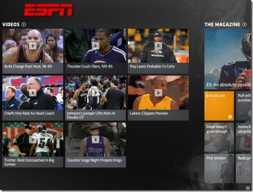 Windows 8 ESPN Apps