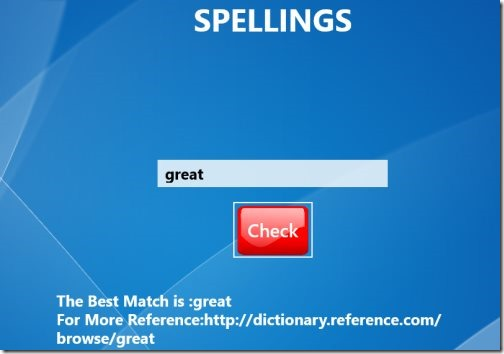 Windows 8 spelling apps