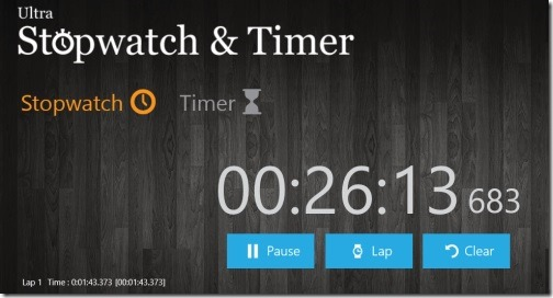 Windows 8 stopwatch app