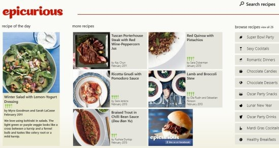 Epicurious free windows 8 recipes app windows 8 freeware forumfinder Gallery