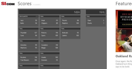 sports app windows 8