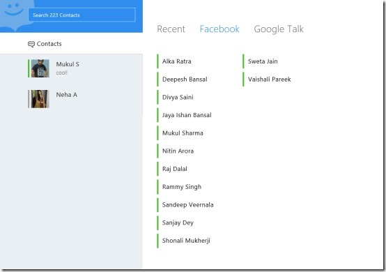 Windows 8 chat app