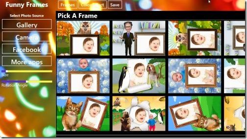 Windows 8 frames app