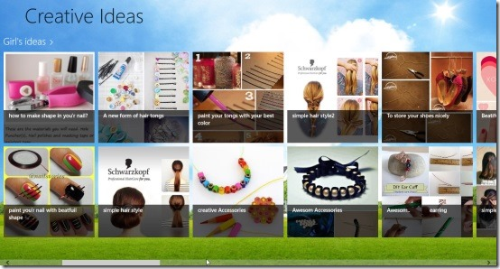 Creative Ideas app for Windows 8