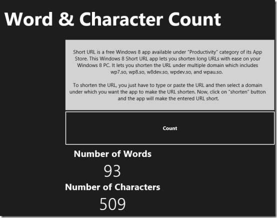 Word & Character Counter