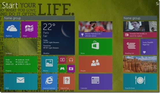 windows 8.1 start screen customize