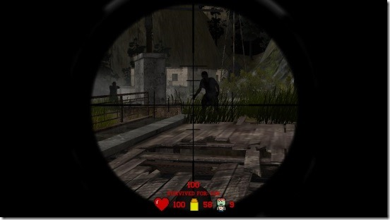 Awesome Zombie Sniper - zoomed view