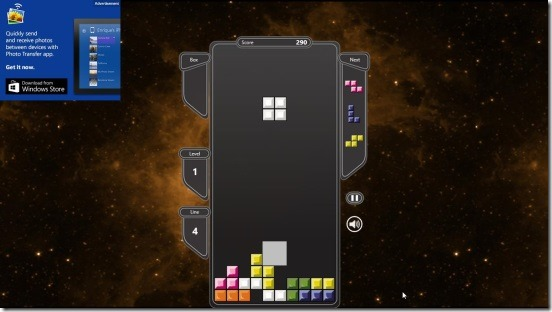 Tetris- game screen