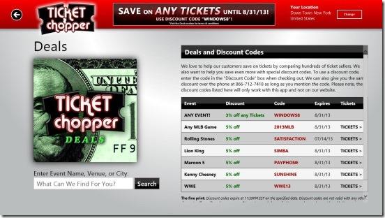 Ticket Chopper - Discounts