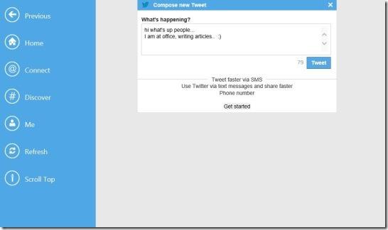 Twitter HD - Posting Tweet