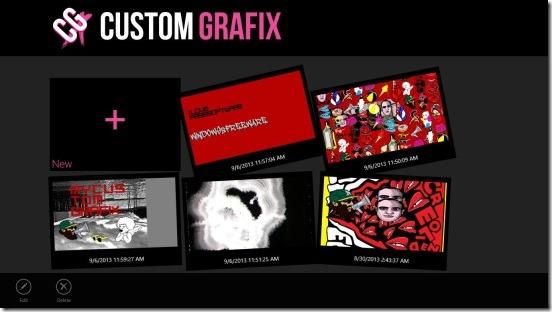 Custom GraFix - main screen
