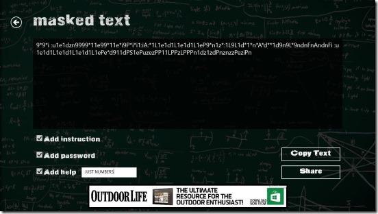 EncrypTo - viewing the encrypted text