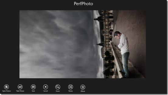 PerfPhoto - Main Screen