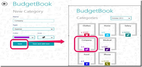 BudgetBook- Add category