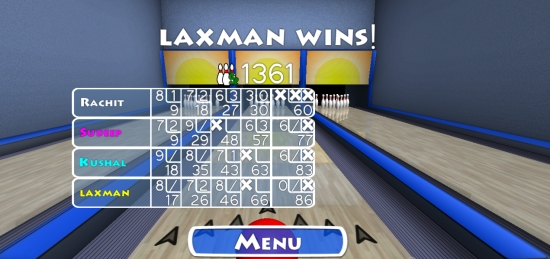 Trick Shot Bowling- Final Score