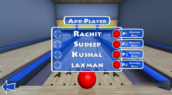 Trick Shot Bowling-Players