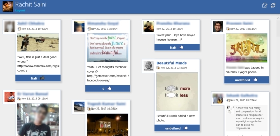 Feedlets for Facebook- Feeds