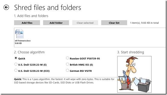 Shredder8- Shred files and folder