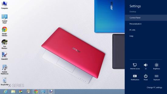 Windows 8 Settings Charm