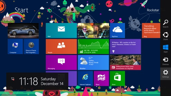 Windows 8 Start Screen Charm