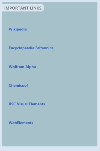 Elements The Periodic Table- Web reference