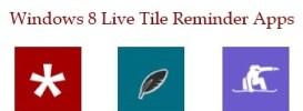 Windows 8 live tile reminder apps