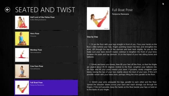 Windows 8 Yoga App To Learn Yoga at Home   Windows 8 Freeware