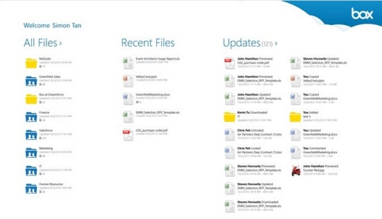 Windows 8 Cloud Storage App - Box