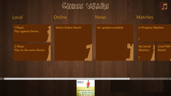 Chess Wars- Main Menu