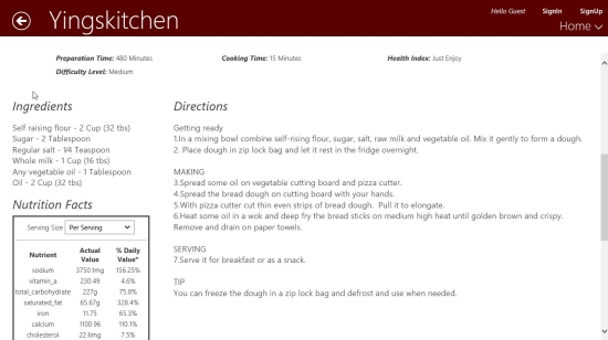 Chinese Recipes - Method of Preparation