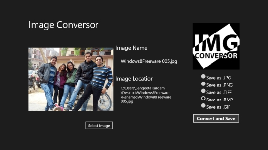 Image Conversor - Converting image