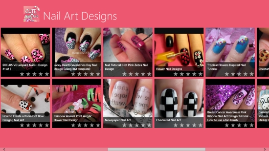 Nail Art Designs - Start screen