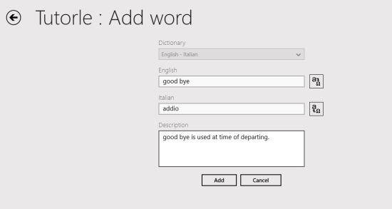 Tutorle- Add New word