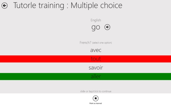 Tutorle- Multiple choice
