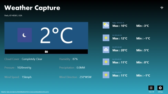 Weather Capture - Weather details
