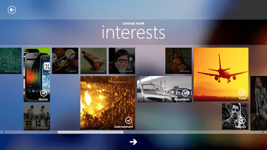 Plash - Interest Selection