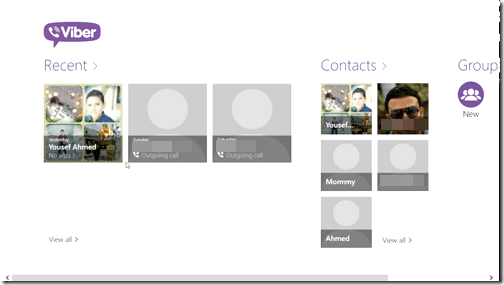 Viber on Windows 8