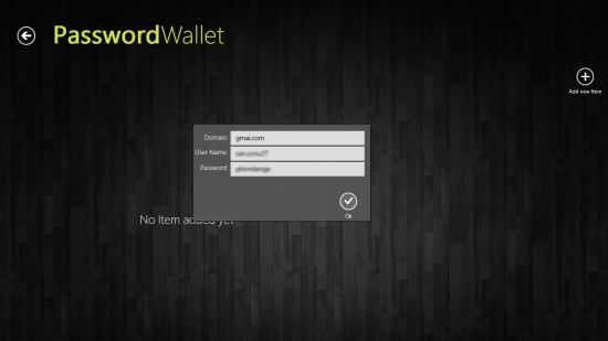 PasswordWallet - Adding a username and password