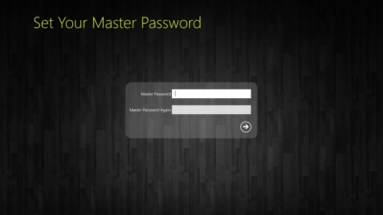 PasswordWallet - Start screen