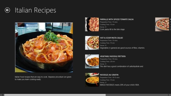 Windows 8 multi cuisine recipes app recipe palette windows 8 freeware recipe palette category view forumfinder Gallery