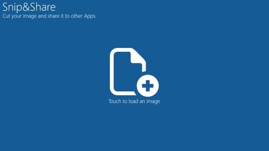 Snip&Share - Start screen