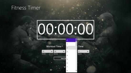 FitnessTimer - Setting the timer