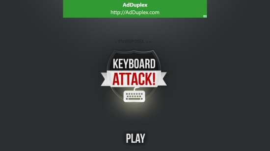 Keyboard Attack - Start screen