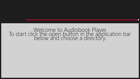 Audiobook Player - Welcome Screen