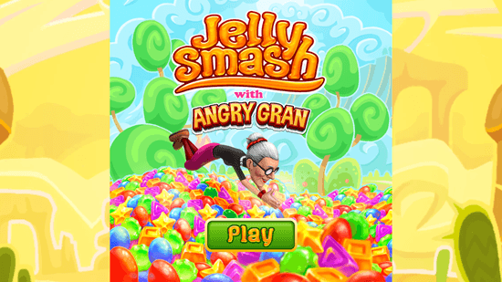 Jelly Smash with Angry Gran - Start Screen