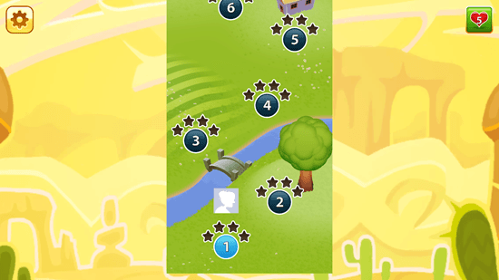 Jelly Smash with Angry Gran - Level Selection Screen